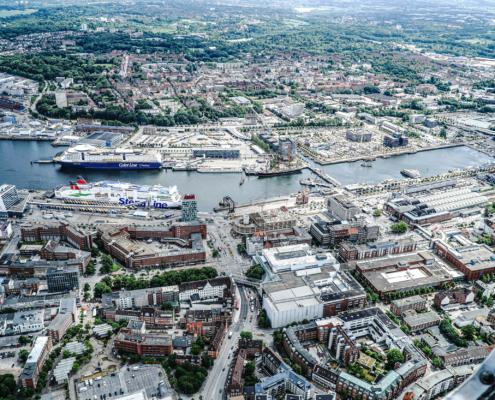 Luftbild Stadt Kiel - BILD: Landeshauptstadt Kiel